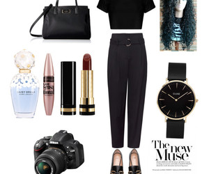black, classy, and outfits image