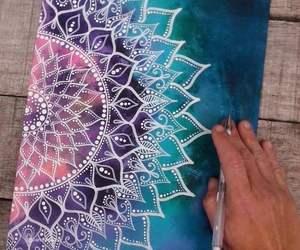 art, blue, and boho image