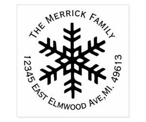 round, rubber stamp, and snowflake image