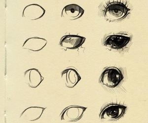 eyes, anime, and art image