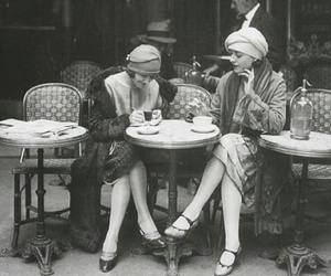 1920, cafe, and girls image