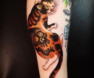 japanese cat tattoo image