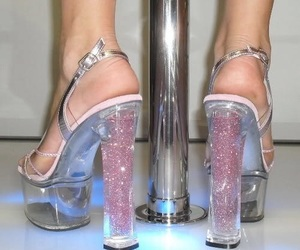 shoes, glitter, and heels image