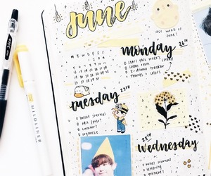 kpop and bullet journal image