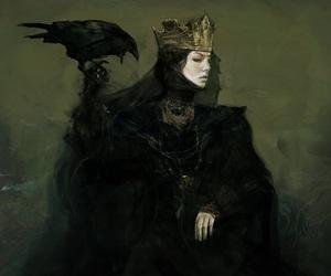 art, Queen, and dark image