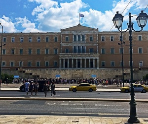 Athens, blue sky, and Greece image