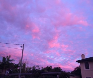pink and clouds image