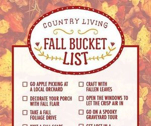 fall, autumn, and list image