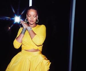 rihanna, yellow, and fenty beauty image