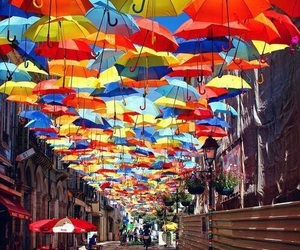 umbrella and colors image