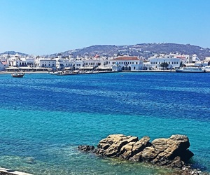 blue sky, Greece, and summer image