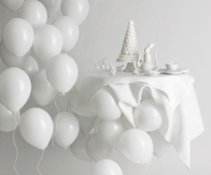 white and balloons image