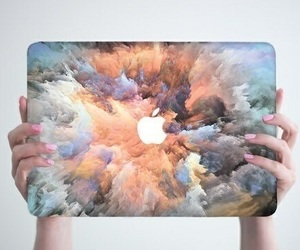apple, macbook, and art image