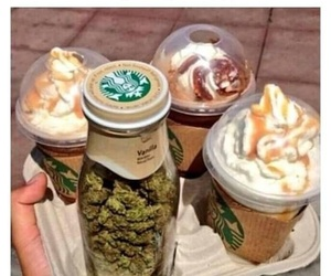 starbucks, weed, and coffee image
