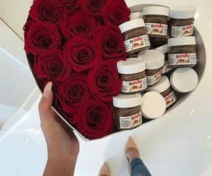nutella, rose, and flowers image