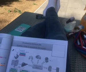 chill, study, and med school image
