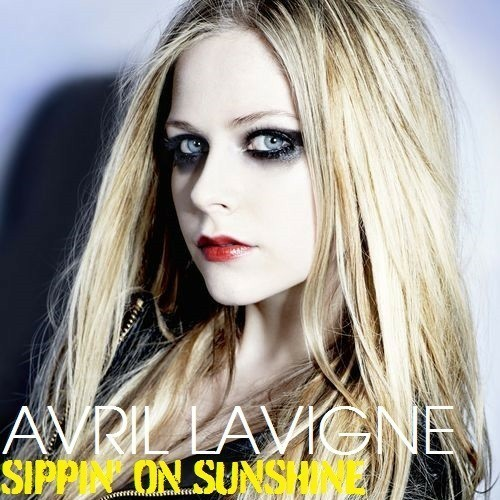Avril Lavigne and sippin' on sunshine image