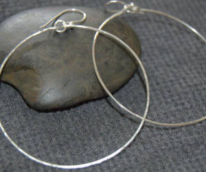 etsy, sterling silver, and dangle earrings image