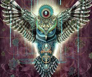 owl, Shamanism, and totem image