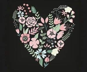 flowers and hearts image