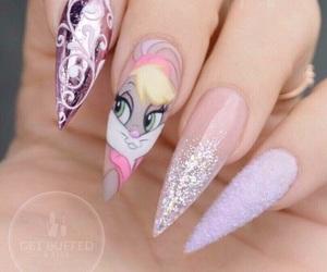 Lola, nails, and uñas image