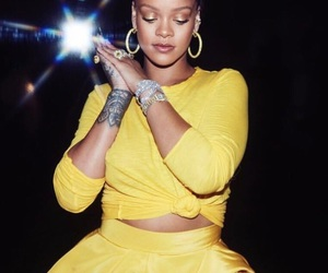 rihanna, yellow, and fenty beauty image