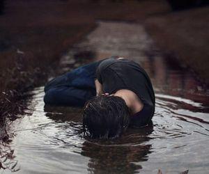 sad, boy, and alone image