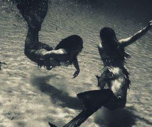 mermaid, water, and sea image