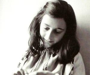 anne frank and vintage image