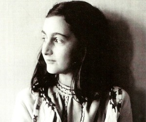 anne frank and black and white image