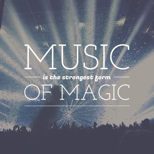 music, magic, and quote image