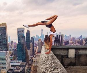 city, fitness, and motivation image