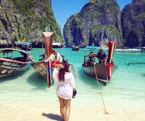 asia, beach, and blue image