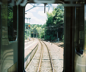 train, ready to go, and travel image