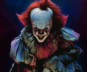 clown, horror, and it image