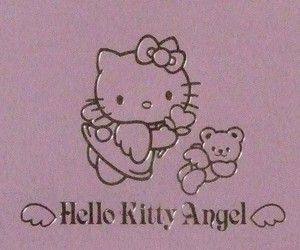 angel, hello kitty, and purple image