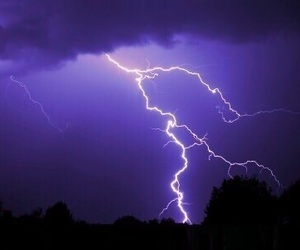 blue, lightning, and sky image
