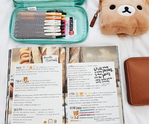 planner, stationery, and school image