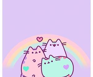 cat, wallpaper, and pusheen image