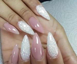 nails, sparkle, and stiletto image