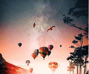 air balloons, imagine, and sky image