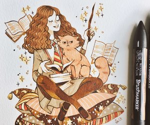 book, hermione granger, and harry potter image