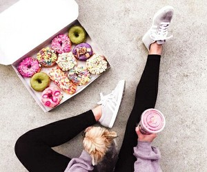 chic, dog, and donuts image