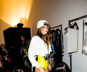 brown hair, fashion, and fashion show image