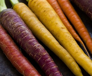 carrot, healthy, and rainbow image
