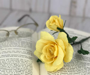 etsy, paper flowers, and yellow rose image