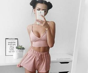 clothes, mirror, and outfit image
