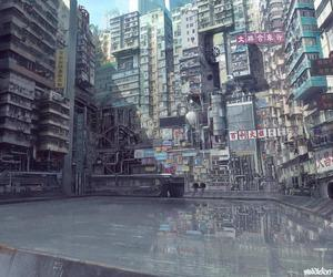 anime, cyberpunk, and cyborg image