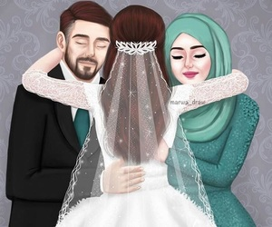 wedding, art, and family image