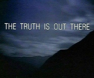 x files, truth, and alien image
